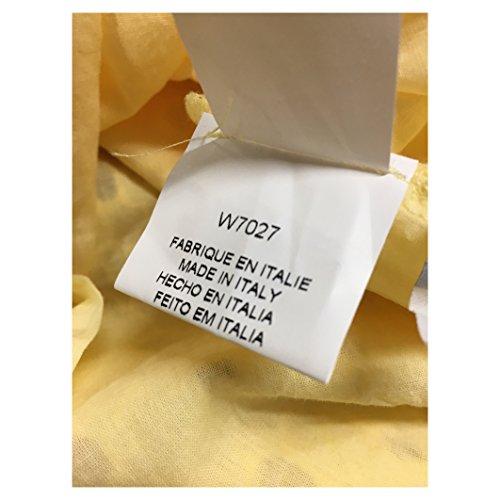 LA FEE MARABOUTEE abito donna sangallo giallo 100% cotone W7027 MADE IN ITALY