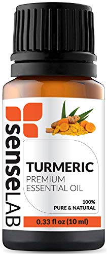 Turmeric Essential Oil by SenseLAB - 100% Pure, Natural and Highly Concentrated; Therapeutic Grade Oil 0.33 fl oz (10ml)