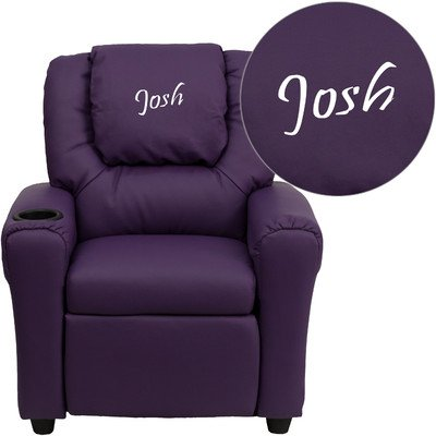 Kids Personalized Recliner Color: Purple