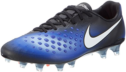 Nike Men's Magista Opus II FG Soccer Cleats (9, Black/White-Paramount Blue (843813-019)) (Magista Nike Soccer Cleats)