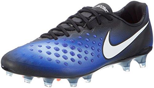 Nike Herren 843813-018 Fußballschuhe Schwarz (Black/White/Paramount Blue/Aluminium)