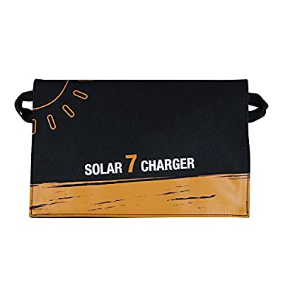 TuffGear 7W Foldable Solar panel USB Charger portable and highly efficient Solar Panel for iPhone, iPad, iPods, Samsung, Android Smart Phones, Tablets, Any USB Devices and More