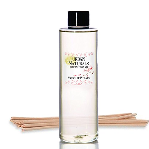 Urban Naturals Moonlit Petals Scented Oil Reed Diffuser Refill | Includes a Free Set of Reed Sticks! Magnolias, Peonies, Daisies, Honeysuckle, Pear & Rosewood | 4 oz by Urban Naturals