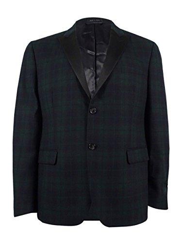 (Lauren by Ralph Lauren Men's 100% Wool Blazer (36S, Navy/Green))