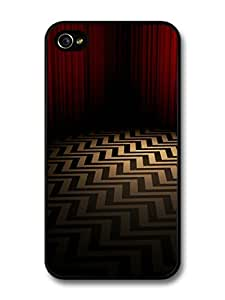 Twin Peaks TV Series Red Room with Optical Illusion Floor case for iPhone 4 4S