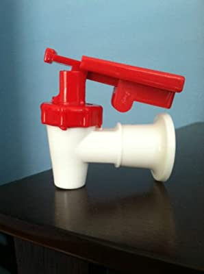Sunbeam Water Cooler Faucet /Valve RED W/child Safety Tomlinson Handle Hq by Hot & Cold Water Dispensers