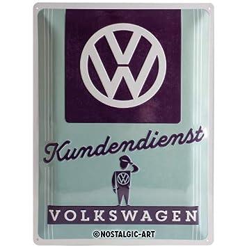 Nostalgic-Art 23224Volkswagen VW Service Client, Plaque en métal 30x 40cm