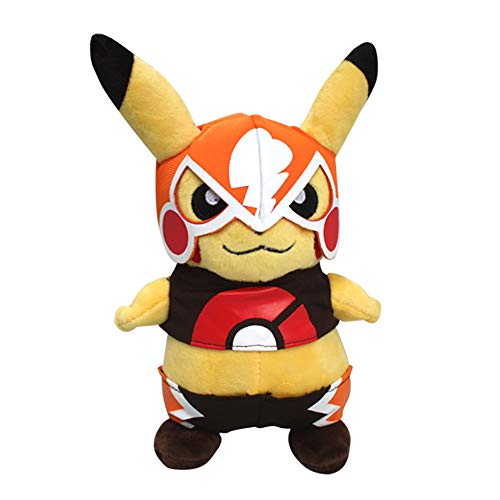 Bellagione Pikachu Cosplay Wearing Mask Clothing Suit Plush Doll 9