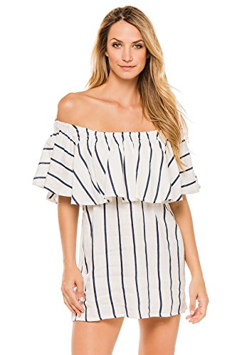 Faithfull the Brand Women's Cottons Dress Swim Cover Up Navy S by Faithfull