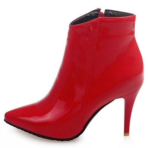 Rosso Donna Stivali Appuntito AicciAizzi Vestito UR4Zqf