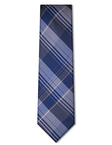 Origin Ties Men's Tartan Plaid with Striped Silk Skinny Tie ()