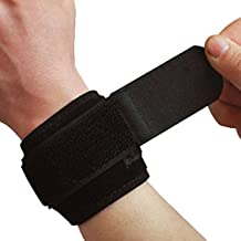 C-Pioneer Blue Black Weight Lifting Wristbands Sports Wrist Wraps Straps Support Gym Wrist