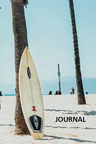 Journal: Surfboard rack convenient Bullet Journal Dot Grid Daily Planner Student Sunset Big Wave Surfing