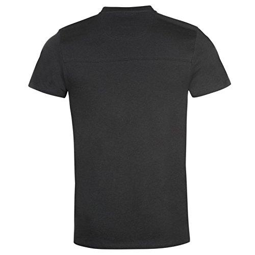 Firetrap Herren Grafik T Shirt Kurzarm Rundhals Print Motiv Freizeit Ombre Blau Extra Lge