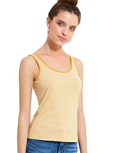 (SheIn Women's Basic Square Neck Ribbed Knit Stretchy Vest Tank Top)