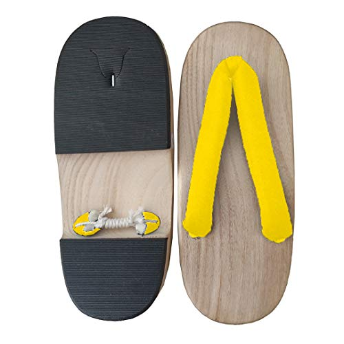 yellow Sole Sandals Traditional sofei wood Women's Japanese Geta Clogs Shoes Wooden Ez A Rpa1v7