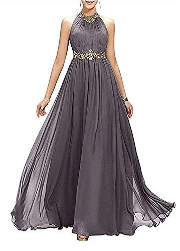 Cocktail besetzte Bainjinbai Elegant Brautjungfernkleider Lang Pailetten Damen Ballkleider Abendkleider Gray n0raI0