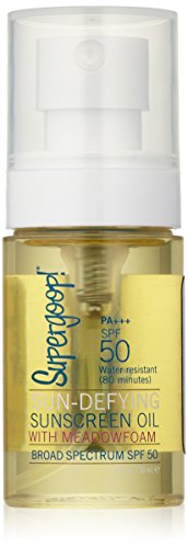 Supergoop! Sun-Defying Sunscreen Oil with Meadowfoam SPF 50, 1 Fl Oz