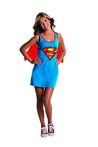 Rubie's DC Comics Justice League Superhero Style Teen Dress with Cape Supergirl, Blue, Small Costume]()