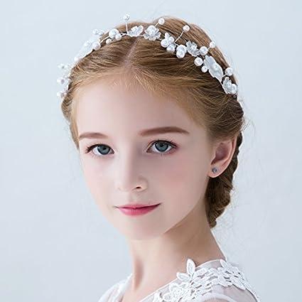 XPY u0026DGX Accessori Per Capelli Da Sposa E Da Sposa Bambini accessori  per capelli ragazza principessa fiore ... 1877117a20d