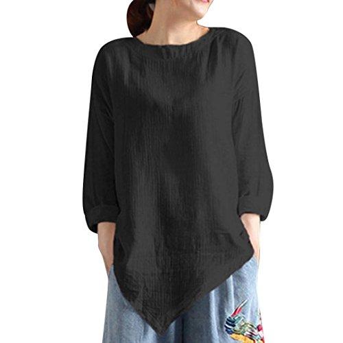 zahuihuiM Femmes Printemps Automne Mode Nouveau T-Shirt Solide O-Cou Manches Longues Irrgulire Ourlet Casual Tops Blouses 2018 Nouveau Noir