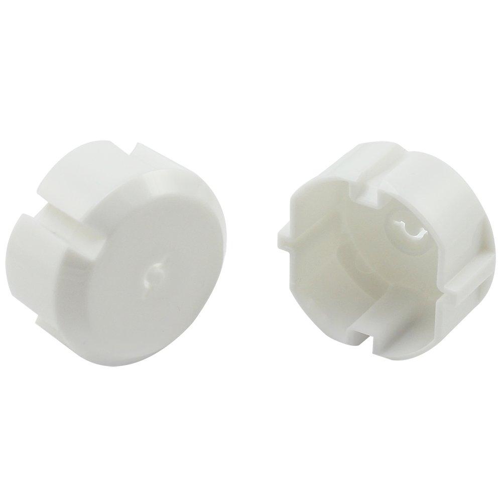 com-four/® 5X Steckdosensicherung mit Metall-Schl/üssel 05 St/ück optimaler Schutz f/ür Babys und Kleinkinder
