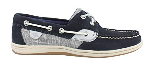 Sperry Top-Sider Women's Koifish Metallic Sparkle Navy Boat Shoe 8 M (Sperry Sparkle Women)