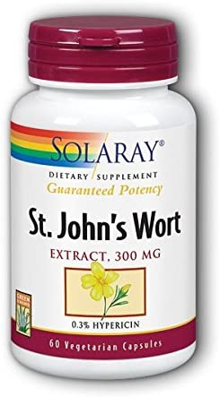 St. John s Wort 300mg Solaray 60 Caps