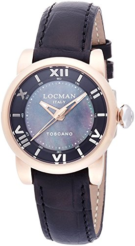 LOCMAN watch Toscano Quartz date 100M waterproof ladies 0595V13 0595V13-R0MKPSK Ladies