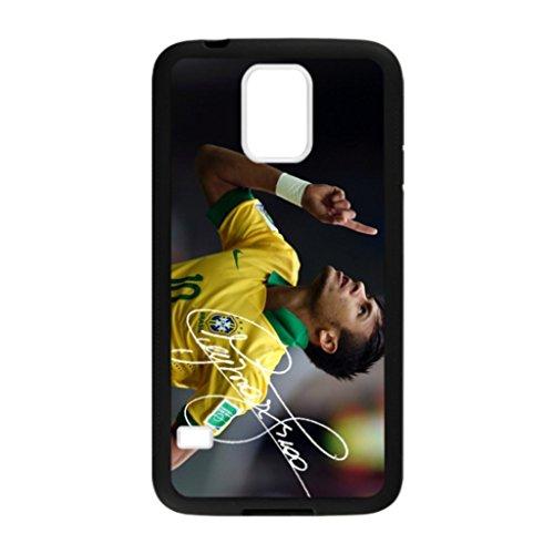 uGreen Creative Design Custom Neymar Brazil Confederations Cup Case for iPhone 5,5S Black Rubber TPU Phone Case