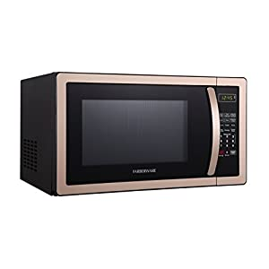 Farberware FMO11AHTBKD 1000-Watt Microwave Oven 1.1 Cubic Foot, 1 cu. ft, Copper