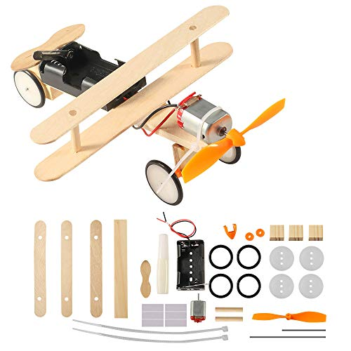 Electric Glider Aircraft DIY Kit,Creative Engineering Circuit Science Stem Building Kit,Perfect Educational Practical Toy Gift for Kids Boys Girls (DIY Plane) (Electric Airplane Glider)