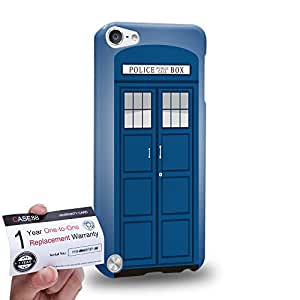 Case88 [Apple iPod Touch 5] 3D impresa Carcasa/Funda dura para & Tarjeta de garantía - Art Design Police Box Telephone Box