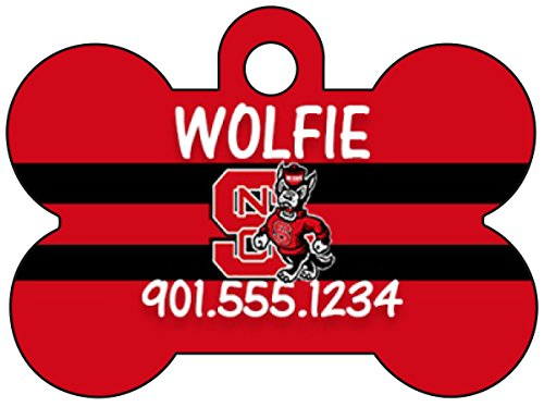North Carolina State Wolfpack Dog Tag Pet Id Tag Personalized w/ Name & Number