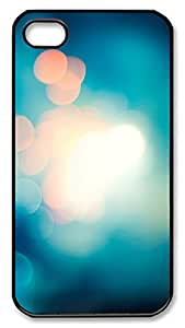 iPhone 4 4s Cases & Covers - Soft Blue Light Bokeh Blur Custom PC Soft Case Cover Protector for iPhone 4 4s - Black