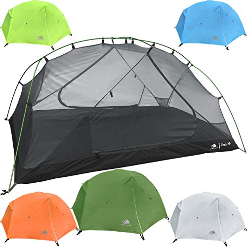 Hyke & Byke Zion Two Person Backpacking Tent with Footprint - Lightweight, Spacious Interior, Compact, and Durable Design (Forest Green) (2 Trail Person Tent)