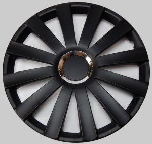 "Tapacubos para Ruedas Tapacubos Spyder Pro Negro 15"" Pulgadas Juego de 4, Ford VW"