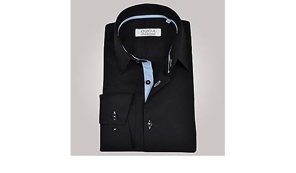 Ozoa-Camisa para hombre, diseño de carpetas, color azul celeste no ...