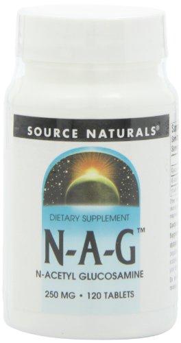 N-acetyl Glucosamine - Source Naturals N-A-G N-Acetyl Glucosamine 250mg Supplement - 120 Tablets