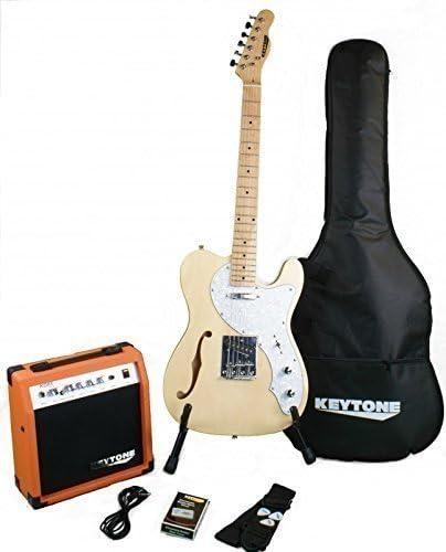 KEYTONE TL de F agujero Style Natural Deluxe Guitarra Eléctrica ...