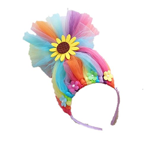 FSBBUT (TM) Baby Girls Trolls Poppy Wig Hairband for Halloween Party For Trolls (Sunflower)