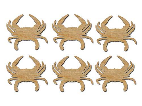 - Crab Shape Cut Outs Unfinished Wood Mini Crabs 2.75