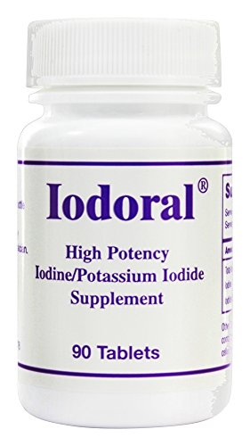 Optimox Iodoral High Potency Iodine Potassium Iodide Thyroid Support Supplement  90 Count