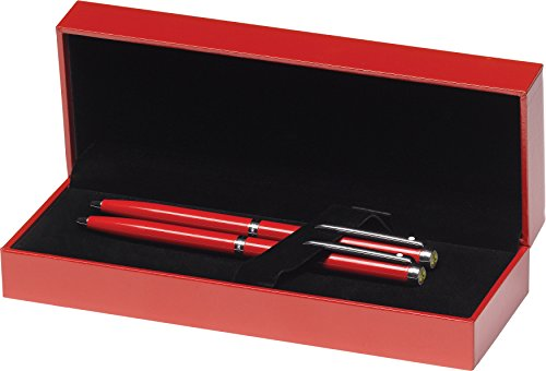 Sheaffer Ferrari 200 Series, Rosso Corsa, Chrome Trim, Ballpoint Pen & 0.7mm Pencil Set (FE9950751) ()