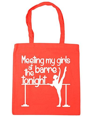 HippoWarehouse reunión mi las niñas en la Barre esta noche bolsa de la compra bolsa de playa 42cm x38cm, 10litros Coral