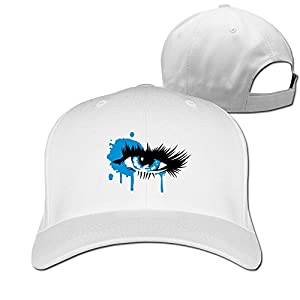 A Colored Eye With Long Eyelashes Cotton Trucker Hat Peaked Cap