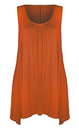 Camiseta negro naranja para o mujer 21fashion tama mangas sin Un fXwd1gq