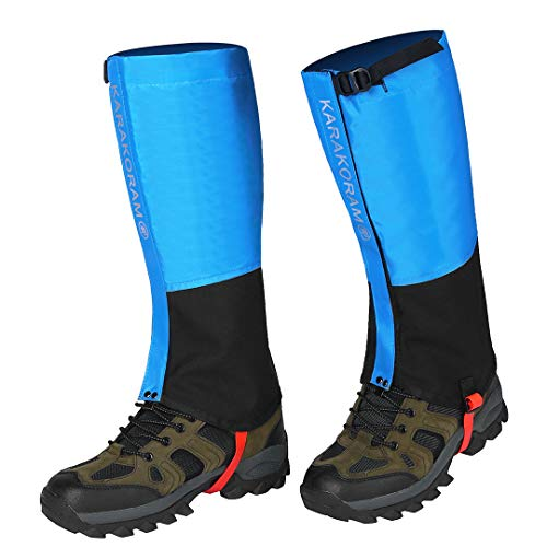 Unizooke Leg Gaiters Waterproof Snow Boot Gaiters 600D Anti-Tear Oxford Fabric for Outdoor Hiking Walking Hunting Climbing Mountain Cycling Backpacking Lightweight Gaiters for Childs &Adults(1 - Adult Biking Boots Dirt