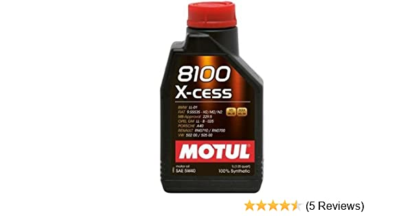 Amazon.com: Motul 8100 5W40 X-CESS - 502 00-505 00-LL01-229.5-Porsche A40: Automotive