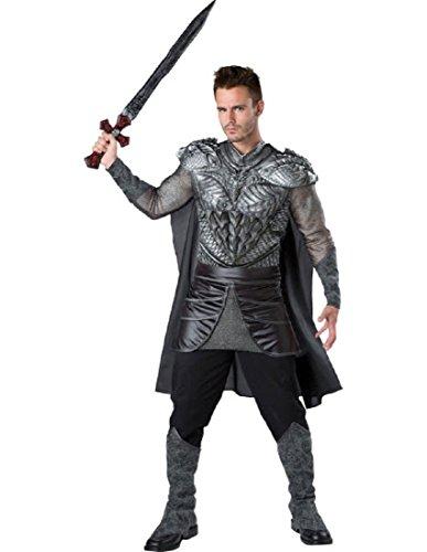 Fun World Men's Dark Medieval Knight Costume, Multi -